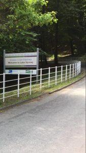 Estate Railings Around Reservoir